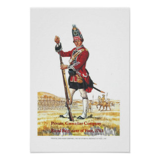 Soldiers of the Queen Private Grenadier Company Print
