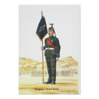 Soldiers of the Queen Sergeant Royal Scots Poster
