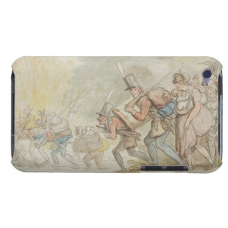 Soldiers on a March, 1805 (pen & ink and watercolo iPod Case-Mate Case