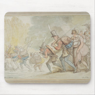 Soldiers on a March, 1805 (pen & ink and watercolo Mouse Mat