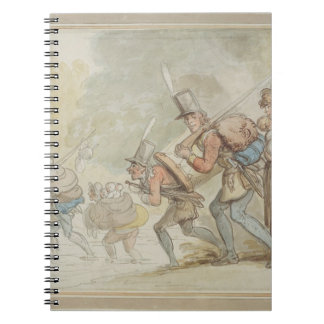 Soldiers on a March, 1805 (pen & ink and watercolo Notebooks