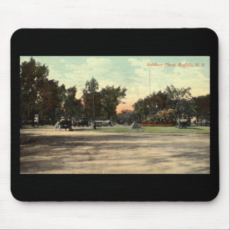 Soldiers Place, Buffalo NY 1908 Vintage Mouse Pad