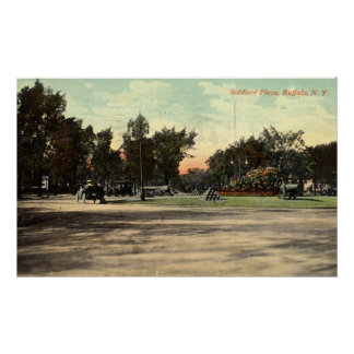 Soldiers Place, Buffalo NY 1908 Vintage Print