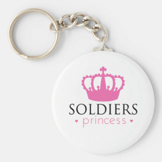 Soldiers Princess Basic Round Button Key Ring