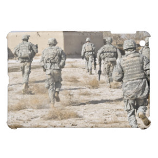 soldiers respond to a small arms attack case for the iPad mini