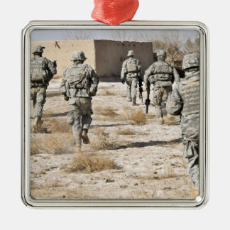 soldiers respond to a small arms attack christmas ornament