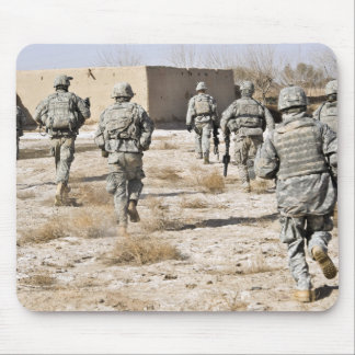 soldiers respond to a small arms attack mouse pad