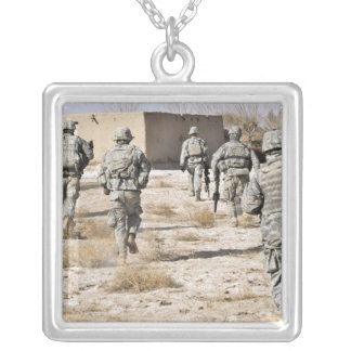 soldiers respond to a small arms attack silver plated necklace