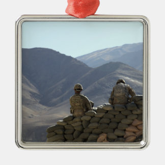 soldiers run communications equipment christmas ornament