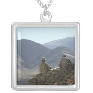 soldiers run communications equipment silver plated necklace