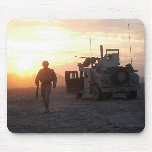 Soldier's Silhouette 11 Mousepads