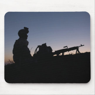 Soldier's Silhouette 14 Mousepads