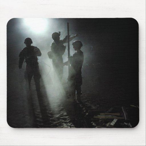 Soldier's Silhouette 17 Mousepad