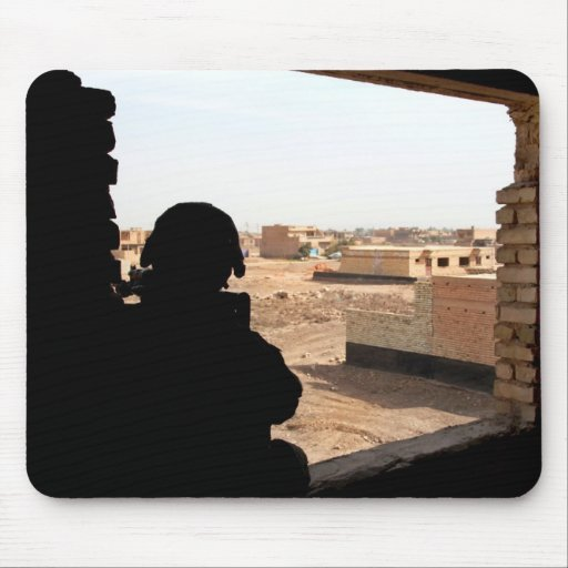 Soldier's Silhouette 18 Mousepad