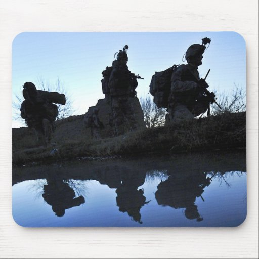 Soldier's Silhouette 19 Mousepads