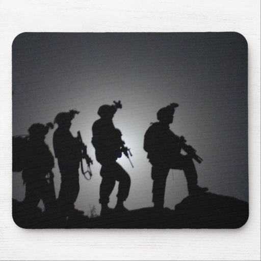 Soldier's Silhouette 1 Mouse Pad