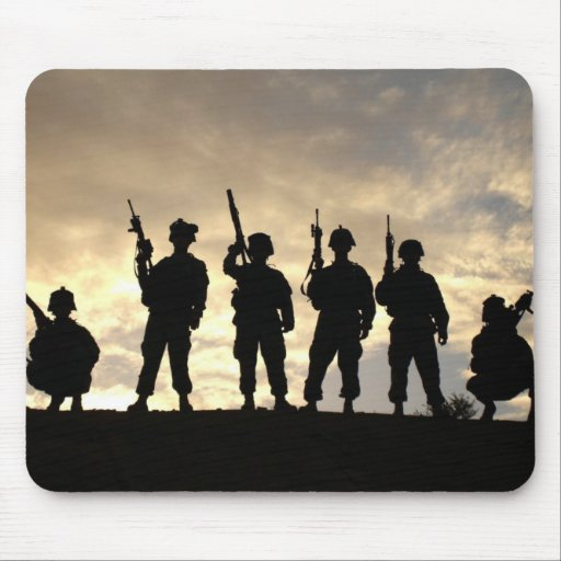 Soldier's Silhouette 20 Mouse Pad