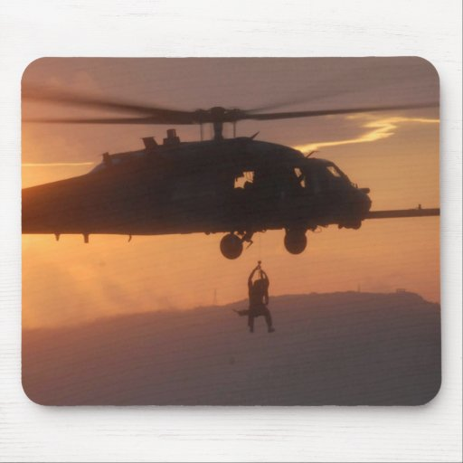 Soldier's Silhouette 25 Mousepad