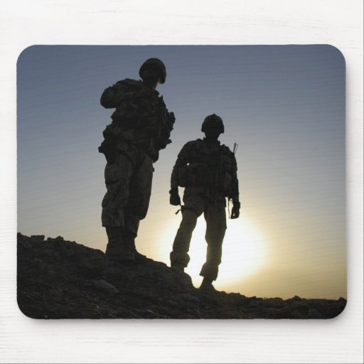 Soldier's Silhouette 2 Mouse Pads