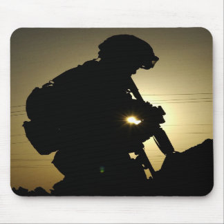 Soldier's Silhouette 3 Mouse Pad