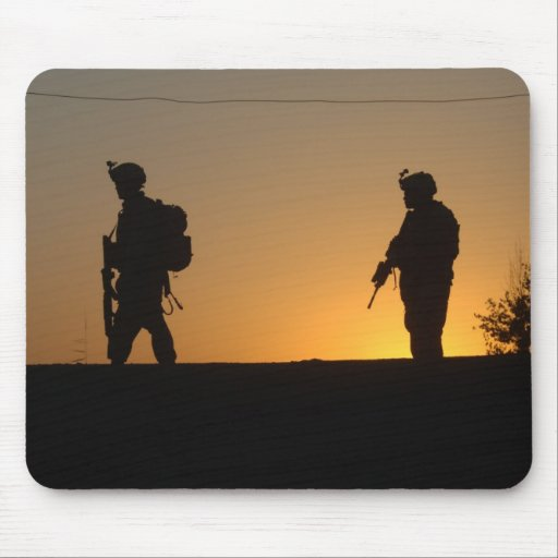 Soldier's Silhouette 4 Mouse Pads