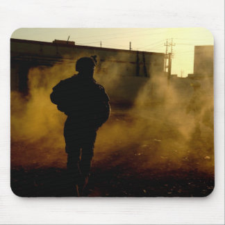 Soldier's Silhouette 5 Mousepad