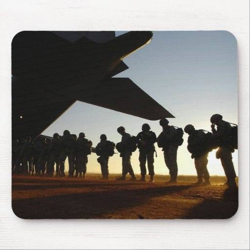 Soldier's Silhouette 7 Mousepad