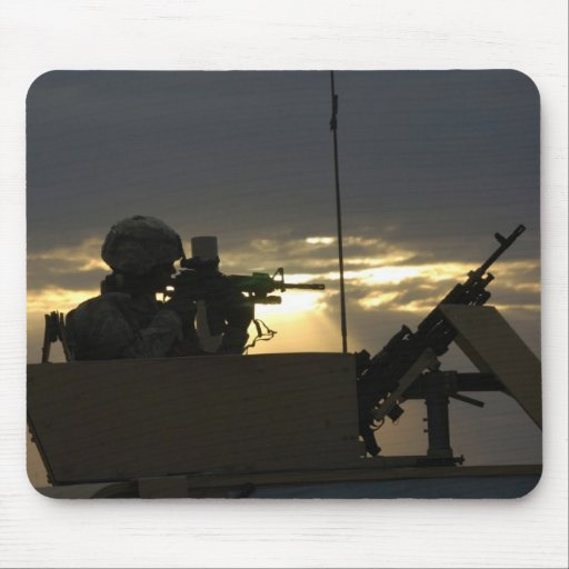 Soldier's Silhouette 8 Mousepad