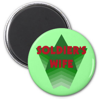 Soldiers Wife 6 Cm Round Magnet