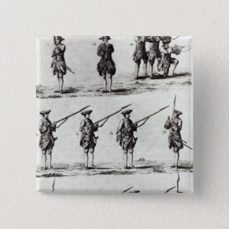 Soldiers with bayonets 15 cm square badge
