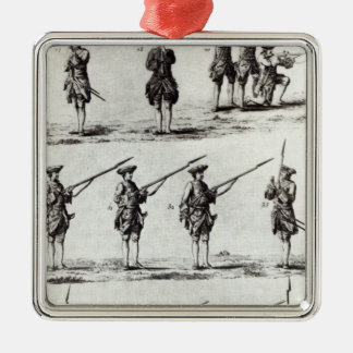 Soldiers with bayonets christmas ornament