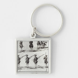 Soldiers with bayonets key chain