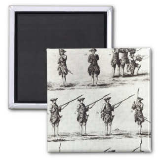 Soldiers with bayonets square magnet