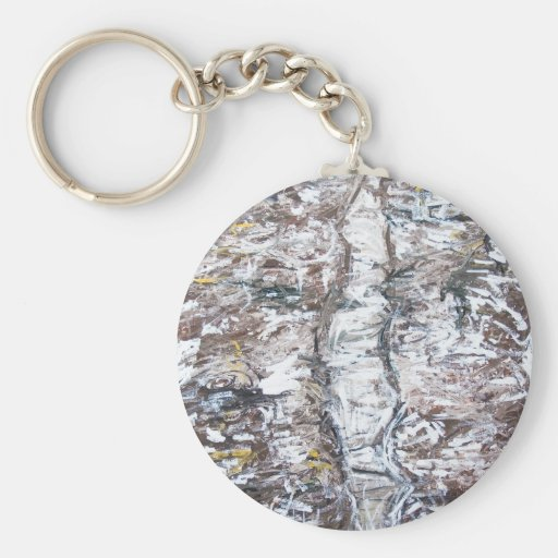 Solemn Passage (abstract expressionism) Key Chain
