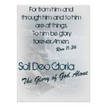 Soli Deo Gloria/ The Glory of God Alone Posters