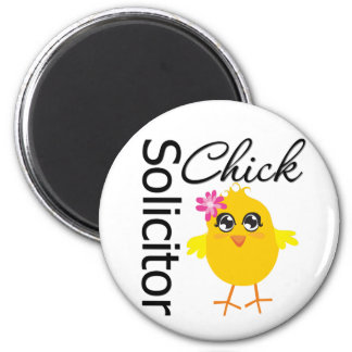 Solicitor Chick 6 Cm Round Magnet