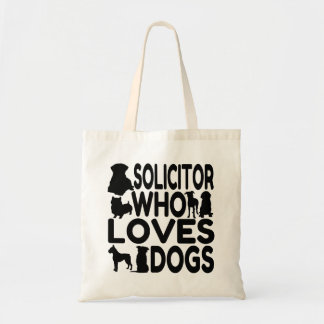 Solicitor Who Loves Dogs Budget Tote Bag