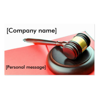 Solicitors / lawyers business card