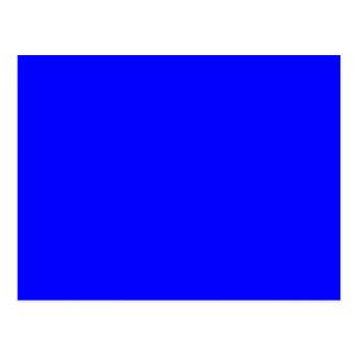 Solid 0000FF Blue Postcard