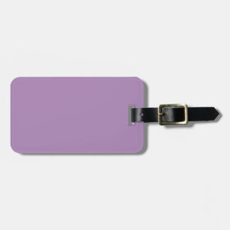 Solid African Violet Purple Luggage Tag