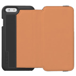 Solid Apricot Plain Incipio Watson™ iPhone 6 Wallet Case