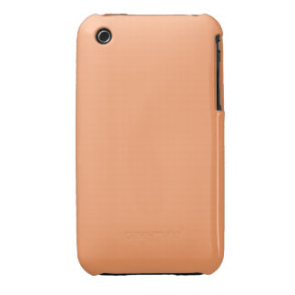 Solid Apricot Plain iPhone 3 Case-Mate Case