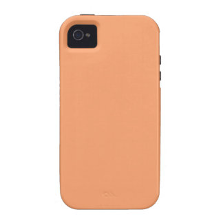 Solid Apricot Plain iPhone 4/4S Cover
