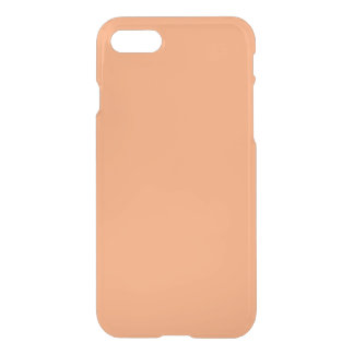 Solid Apricot Plain iPhone 7 Case