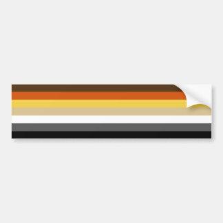 Solid Bear Pride Flag Bumper Sticker