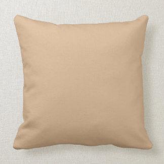 Solid Beige Throw Pillow OP1020