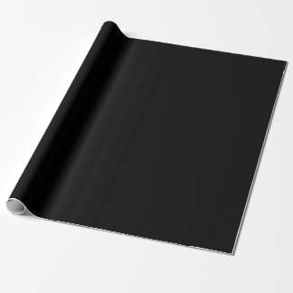 Solid Black and White Wrapping Paper / Gift Wrap