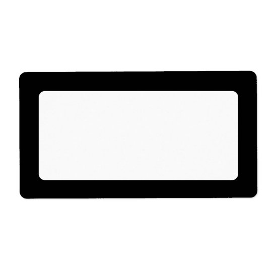 Solid black border blank