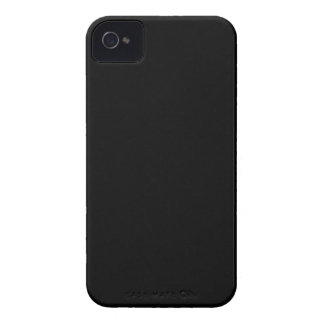 SOLID BLACK (total color coloration, dude!) ~ iPhone 4 Cases