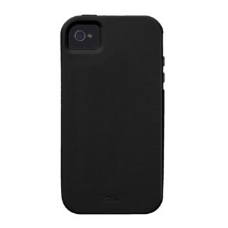 SOLID BLACK (total color coloration, dude!) ~ iPhone 4 Cover